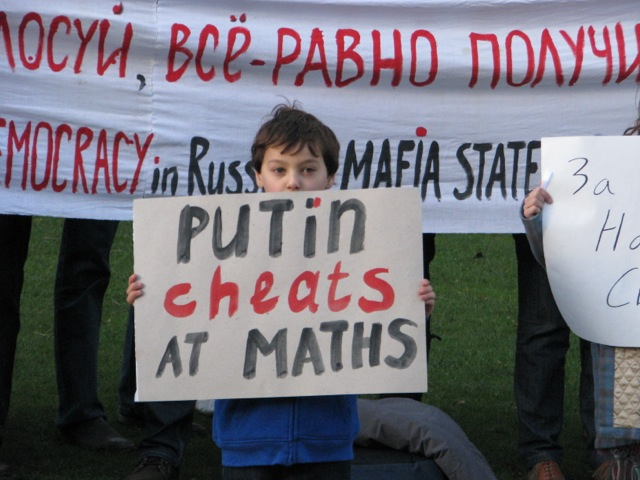 Putin cheats at maths